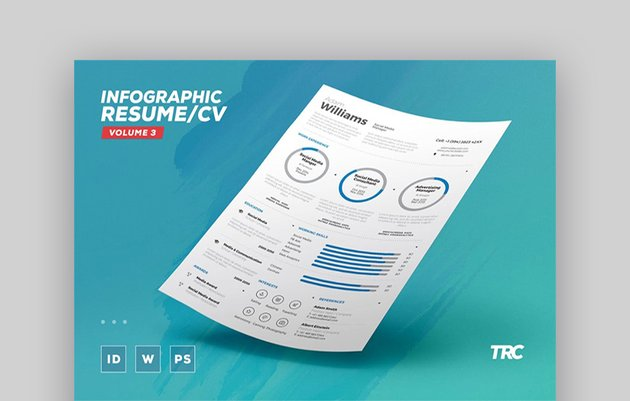 Infographic Resume CV Volume 3