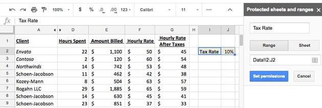 Tax Rate set permissions