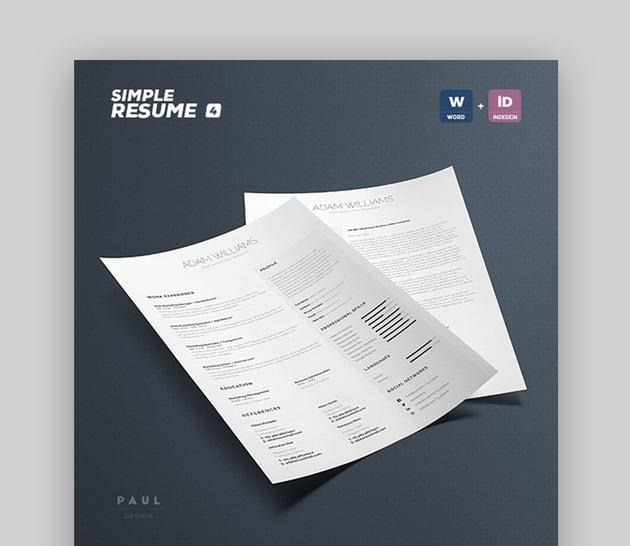 Simple Resume CV Volume 4