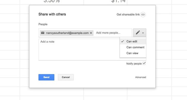 Share Spreadsheet with Others in Google Sheets