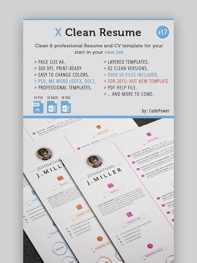 X-Clean Simplistic Resume