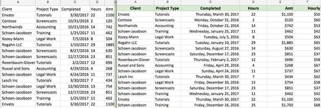 Formatting in Google Sheets