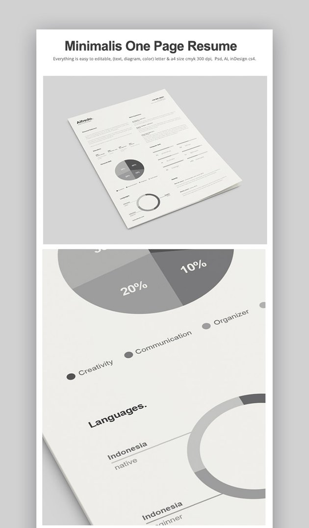 Minimalist One Page Resume
