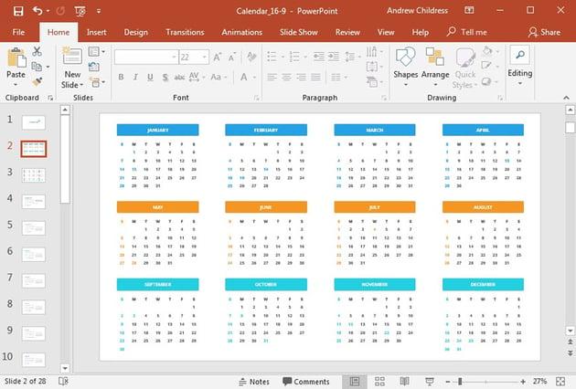 Key Dates Full Calendar Year PowerPoint Presentation