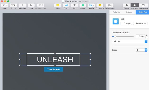 Customize Animations in Keynote