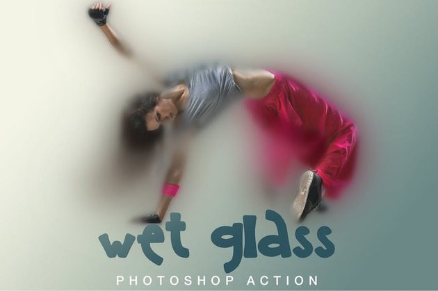 Wet Glass Photoshop Action 2