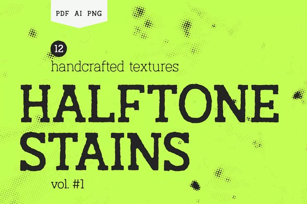 Halftone Stains Texture Pack