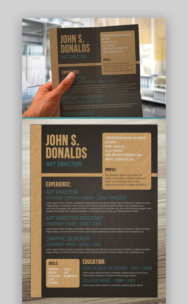 Craft Paper Style Resume
