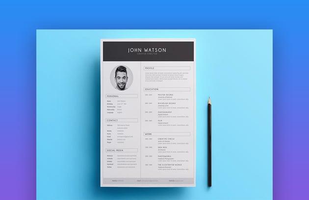 Minimalist Resume 01