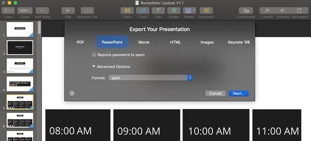 Export to Format