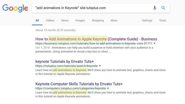 Specific Term in Google Search