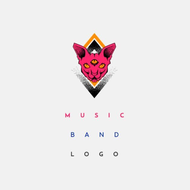 Musician Logo Maker with Cat Graphic