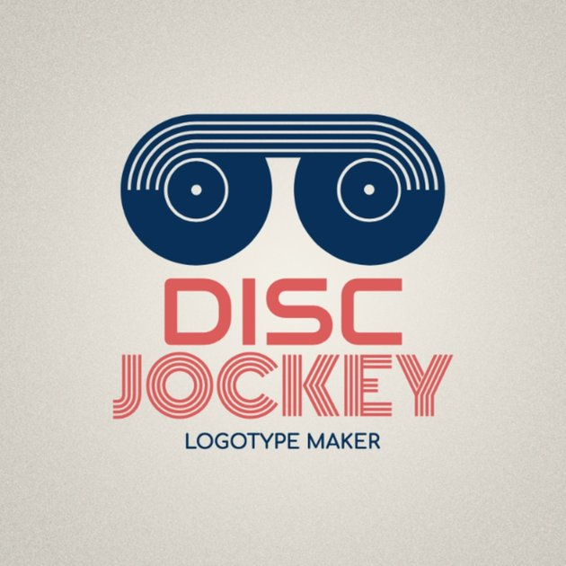 DJ Logo maker with Turntable icon