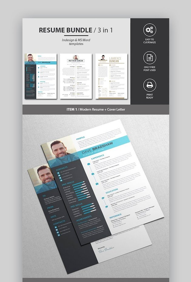 Resume and Cover Letter Contemporary