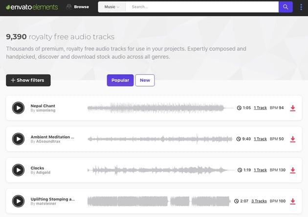 Audio Track Envato Elements