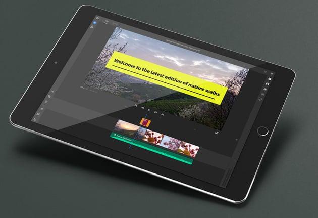 Adobe Rush on iPad Example