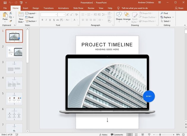 Fluent PowerPoint template