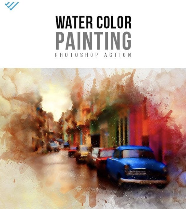 Water Color Painting Action