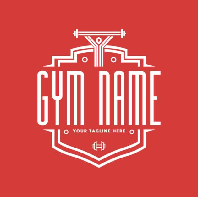 Gym Logo Maker with Shields