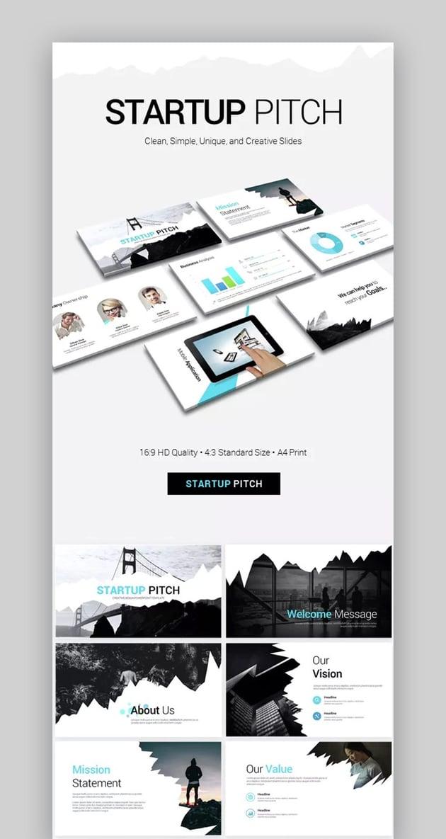 Startup Pitch Best Presentation PowerPoint Templates