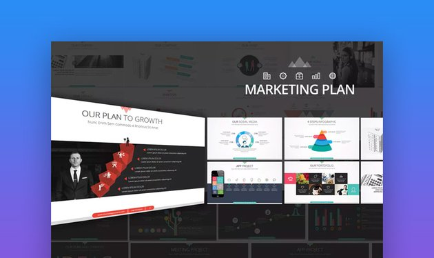 Marketing Plan PPT Slide