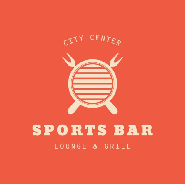 Sports Bar Logo Template for a Lounge and Grill