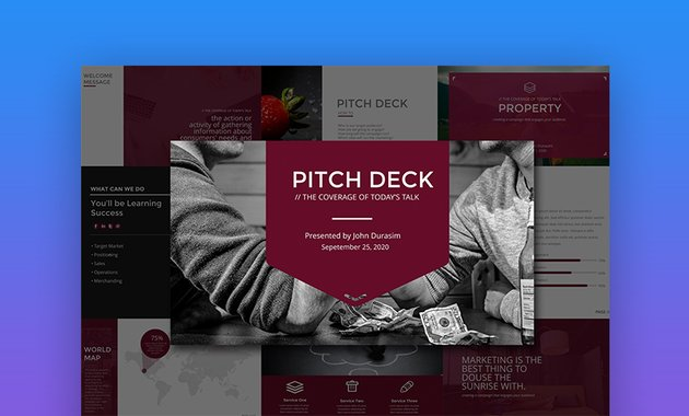 Business Pitch Deck Keynote