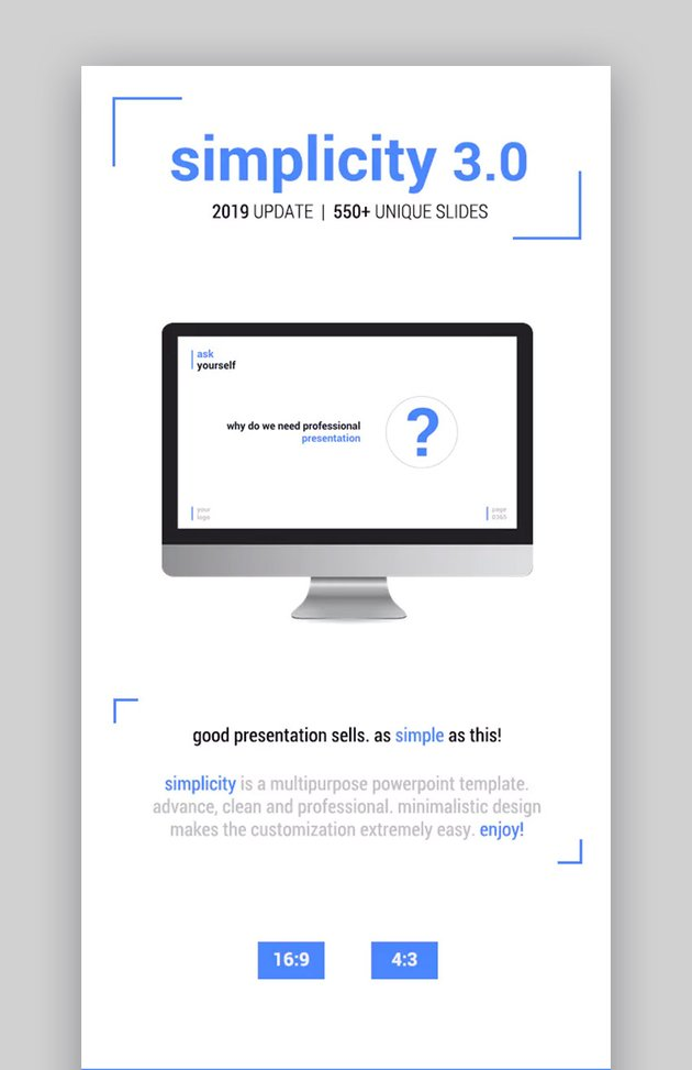 Simplicity Easy to Edit Simple PowerPoint Design