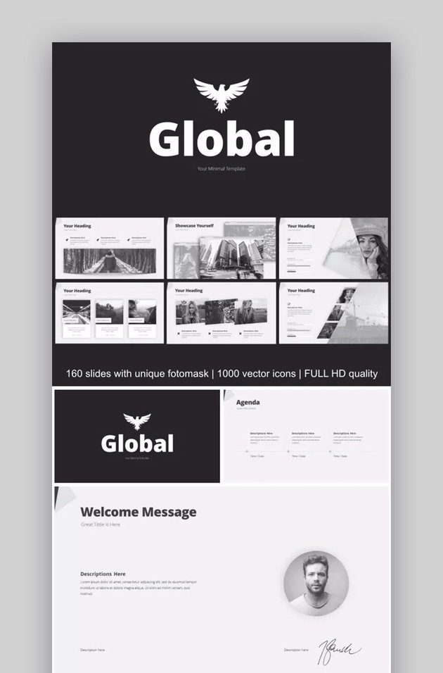 Minimal Download Template PPT Simple