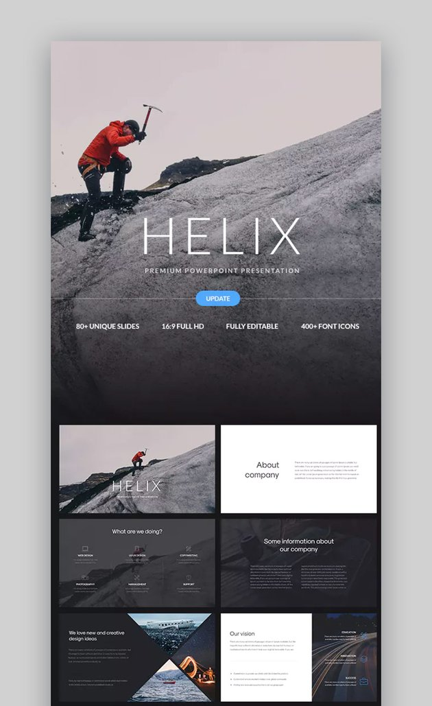 Helix Simple PowerPoint Background