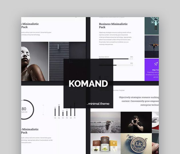 Komand Download Template PPT Simple