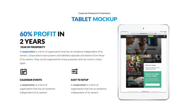 Tablet Mockup Bild hinzugefügt