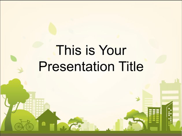 Green City Free Google Slides