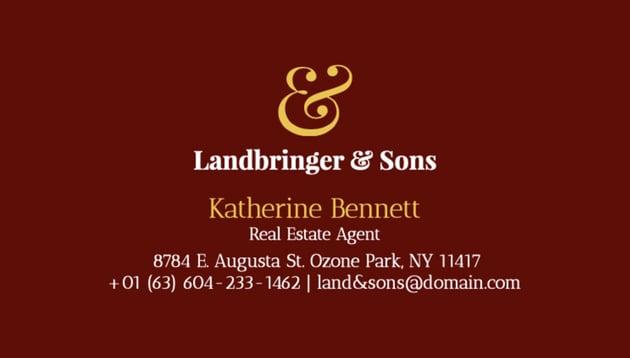 Real Estate Broker Business Card Maker