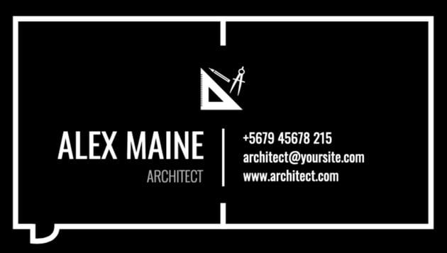 Architect Biz card