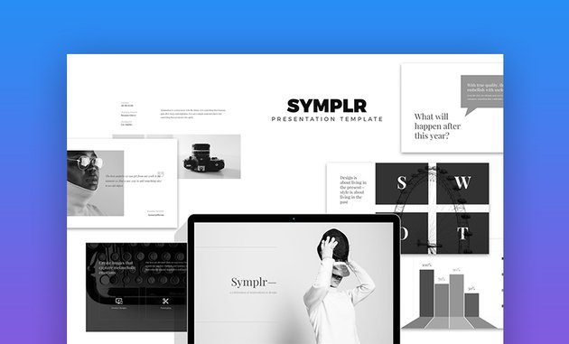 Symplr minimalist google slides theme