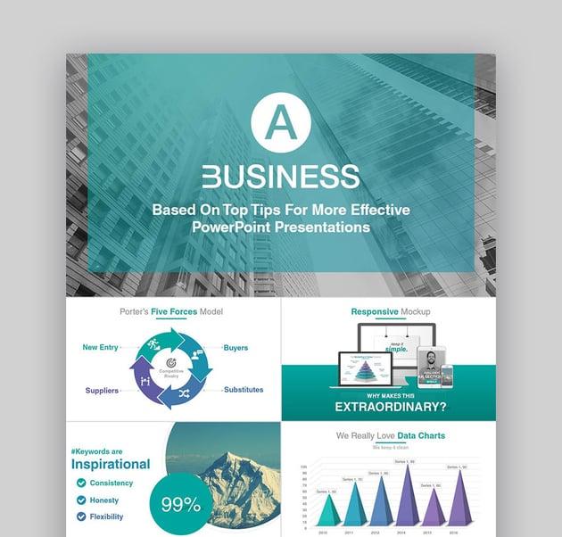Eine Business-Profi-PowerPoint-Vorlage