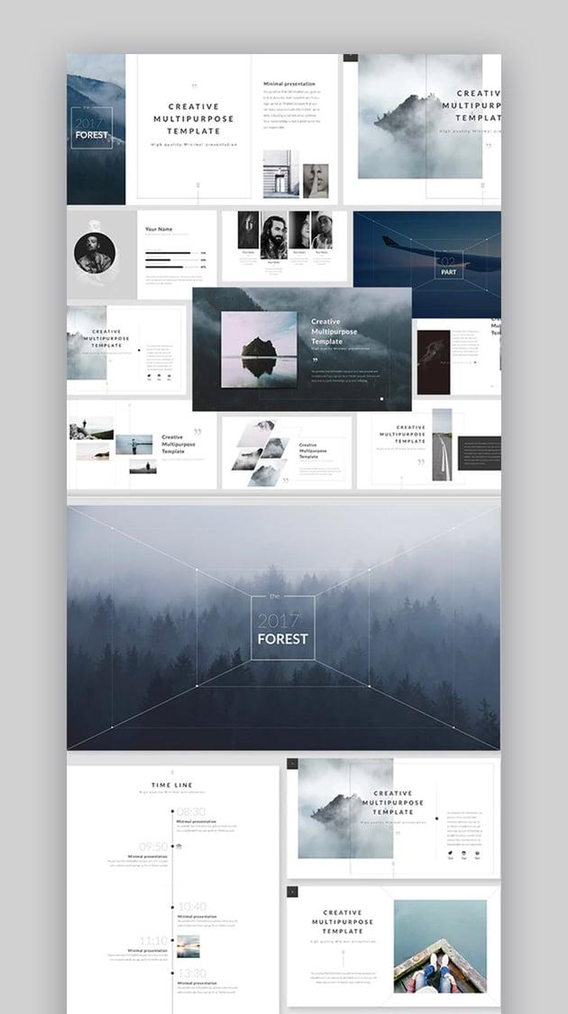 Wald Premium PowerPoint-Vorlagen