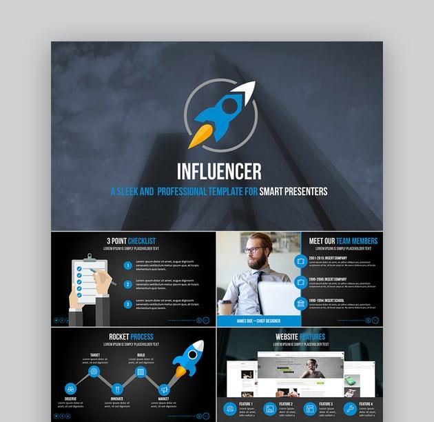 Influencer Business PowerPoint-Vorlagen