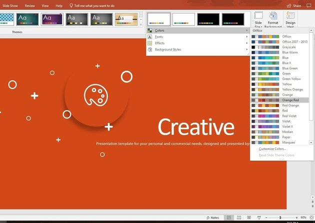 Custom template color change