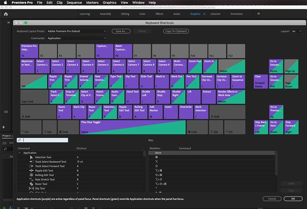 Premiere Pro Customize Keyboard Shortcuts