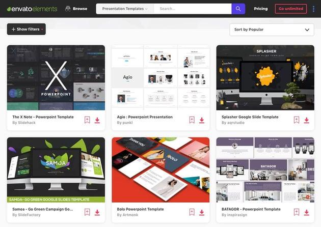 Download Minimalist presentations with clean slide designs