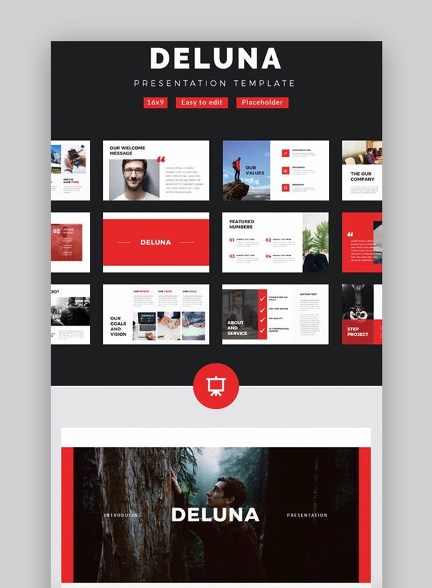 Deluna Creative PowerPoint template for PowerPoint Layout Ideas