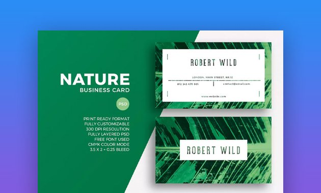 Nature Business Card Photoshop