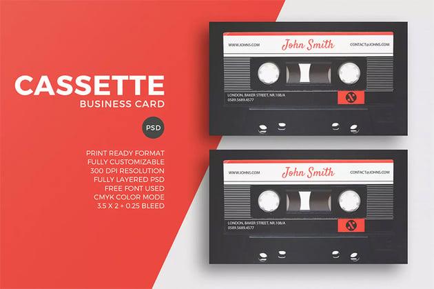 Cassette business card styles
