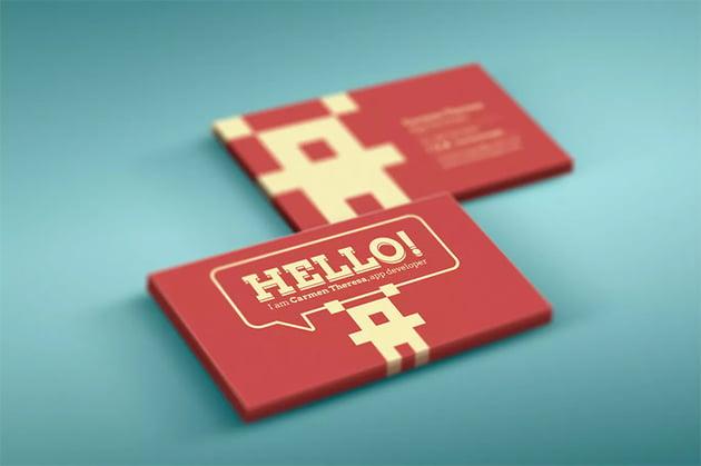 Developer Business Card Template Photoshop