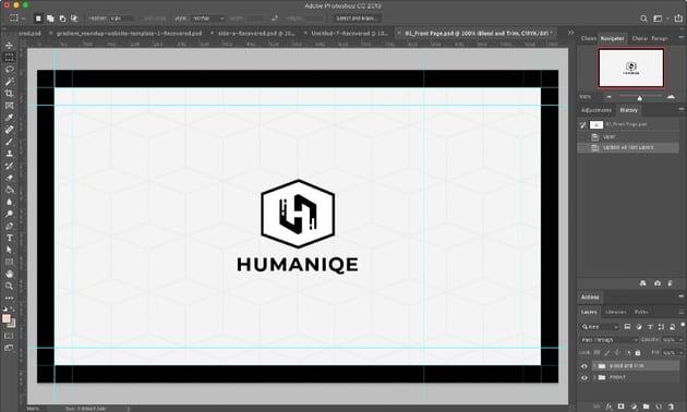 Minimal Business Card Photoshop Template