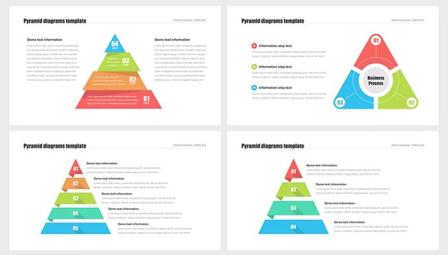 PowerPoint pyramid selections