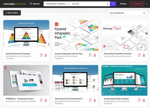 Elements PowerPoint Pyramid Templates