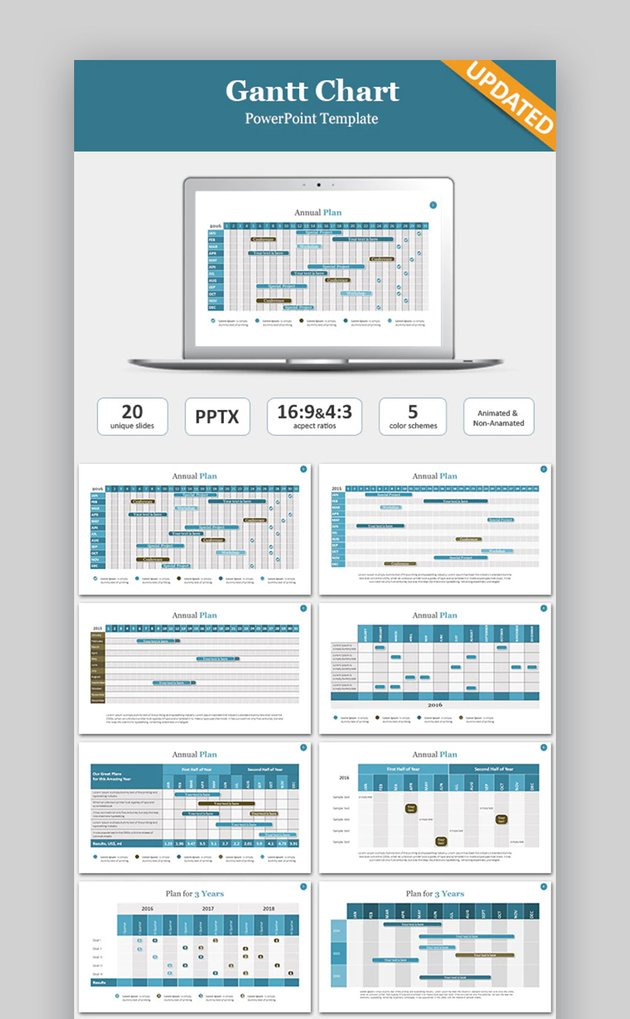 Gantt PPT Chart template